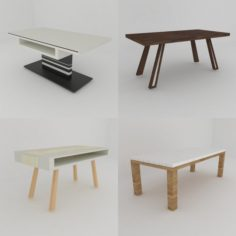 Collection of nice dining tables 3D Model