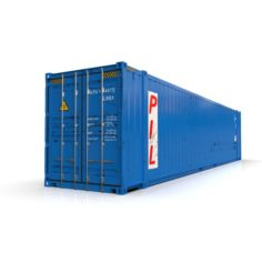 45 feet High Cube PIL shipping container 3D Model