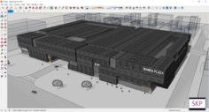 Sketchup Commercial complex D7 3D Model