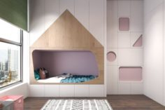 Children bedroom minimalism 3D Model