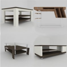 Collection of model tables 3D Model