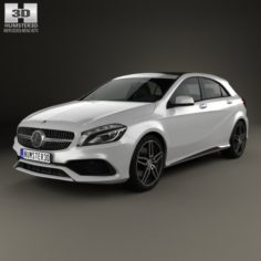 Mercedes-Benz A-Class W176 AMG Line 2016 3D Model