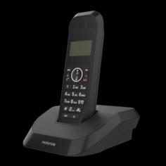 MOTOROLA S2001I CORDLESS PHONE BLACK 3D Model