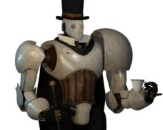 Steampunk Robot 3D Model