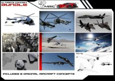 ULTIMATE AIRCRAFT CONCEPTS BUNDLE 3D Model