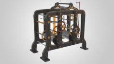 Tower Clock Mechanism 3D Model