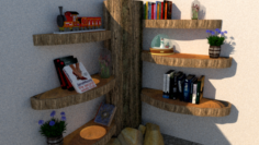 Tree wood library 3D Model