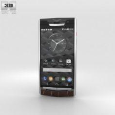 Vertu Signature Touch 2015 Cocoa Alligator 3D Model