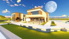 Villa Modern 3D Model