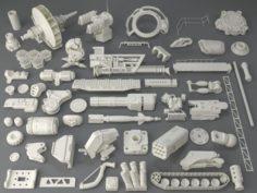 Kit bash54 pieces – collection-7 3D Model