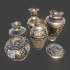 Magical Library – Urn Set 1 3D Model