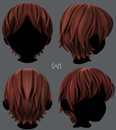 3D Hair style for boy V32 3D Model