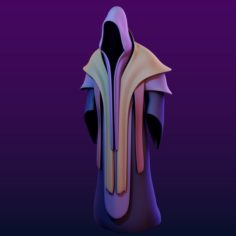 Two Magic Robes Low-Poly Subdiv ready 3D Model