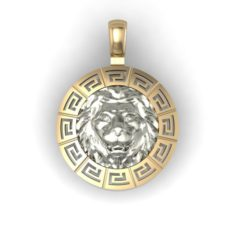 Bicolor pendant with lion 3D Model