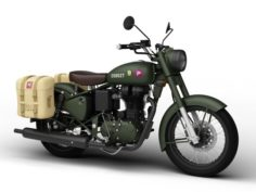 Royal Enfield Classic Pegasus 2018 3D Model