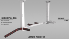 Horizontal Bar 3D Model