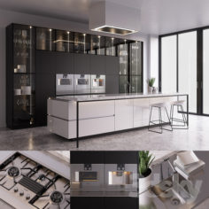 Kitchen Poliform Artex (vray GGX, corona PBR)                                      3D Model