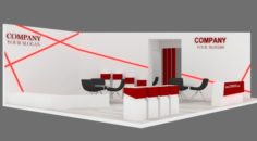 Exhibition stand 02 3D Model