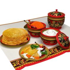 Ethnic Food Set 2 3D Model