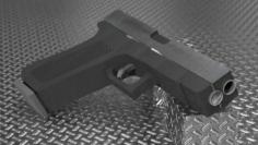 Glock 18 Metallic 3D Model