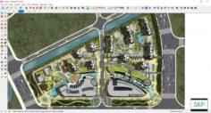 Sketchup Commercial complex D10 3D Model