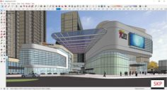 Sketchup Commercial and office residential complex D3 3D Model