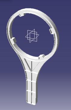 Water filter handle 3D Model