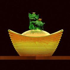 Cginese gold ingot 3D Model