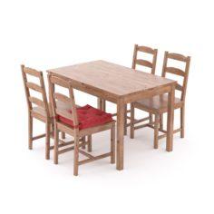 Table Chair Ikea Jokmokk 3D Model