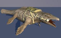 Mosasaurus Dinosaur 3D Model