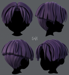 3D Hair style for boy V30 3D Model