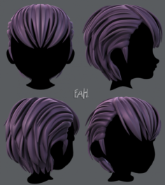 3D Hair style for boy V31 3D Model