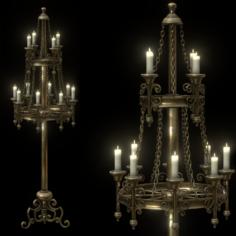 Big Brass Candle Holder 3D Model