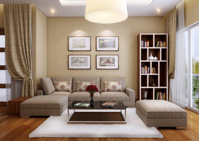 Villa livingroom tradition 3D Model