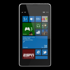 LUMIA 540 DUAL SIM WHITE 3D Model