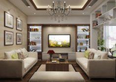 Villa livingroom tropical 3D Model