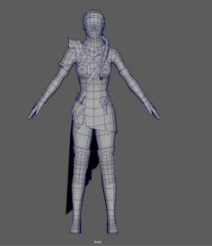 Ninja Woman 3D Model