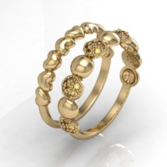 2 fashion rings 3D Model