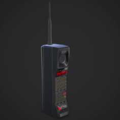 Cellphone retro Game Ready 3D Model