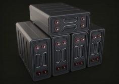 Sci-fi battery Free 3D Model