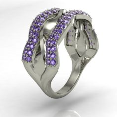 Fashion right hand ring 3D Model