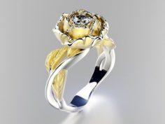 Peony fashion ring 3D Model