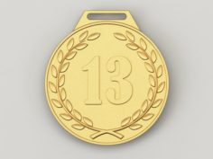 13 years anniversary medal 3D Model