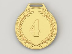 4 years anniversary medal 3D Model