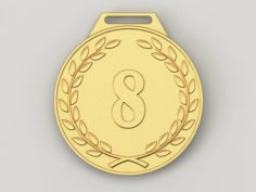 8 years anniversary medal 3D Model