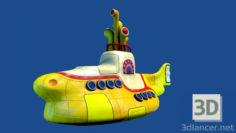 3D-Model  Yellow Submarine