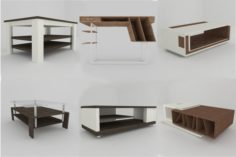 Collection of modern tables 3D Model