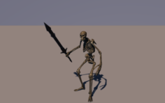 Skeleton war soldier – Animated 3D Model