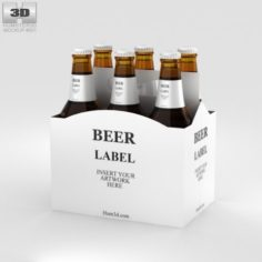 Paper Pack Beer Carrier Mockup 3D Model