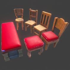 PBR – Chair Set 1 3D Model